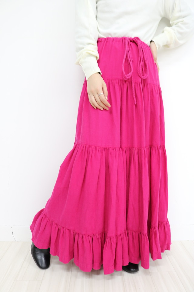 tiered long skirt/ SK11170001