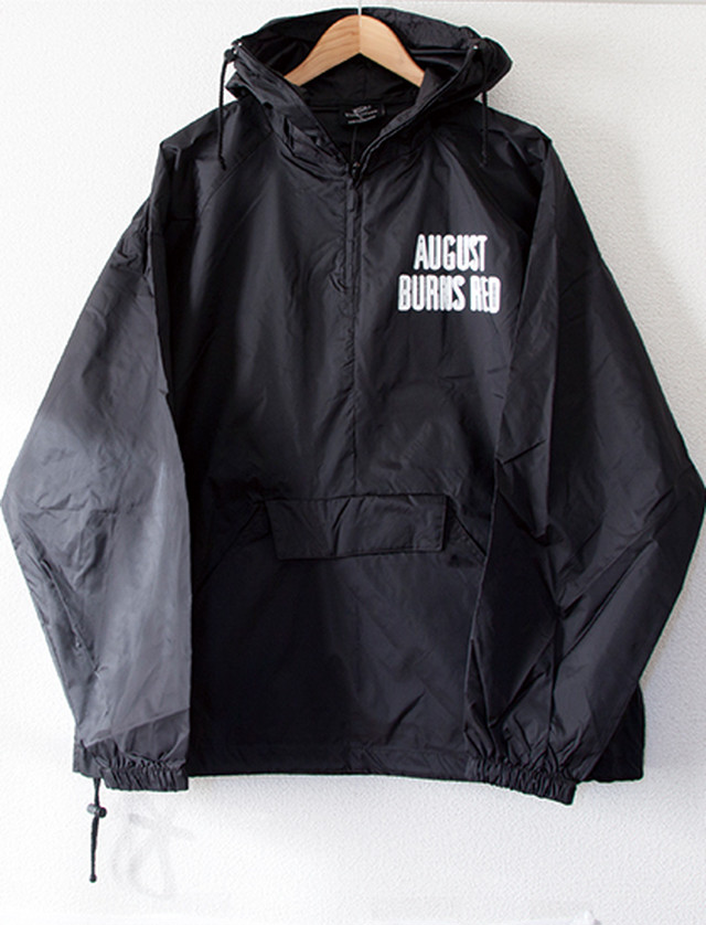 ※Restock【AUGUST BURNS RED】Flag Windbreaker (Black)