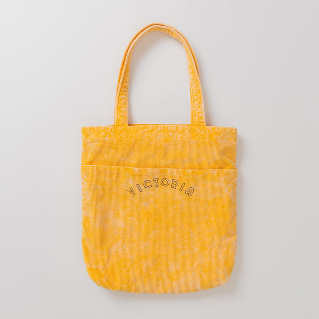 VICTORIA BEDFORD CORDUROY TOTE BAG FADED YELLOW