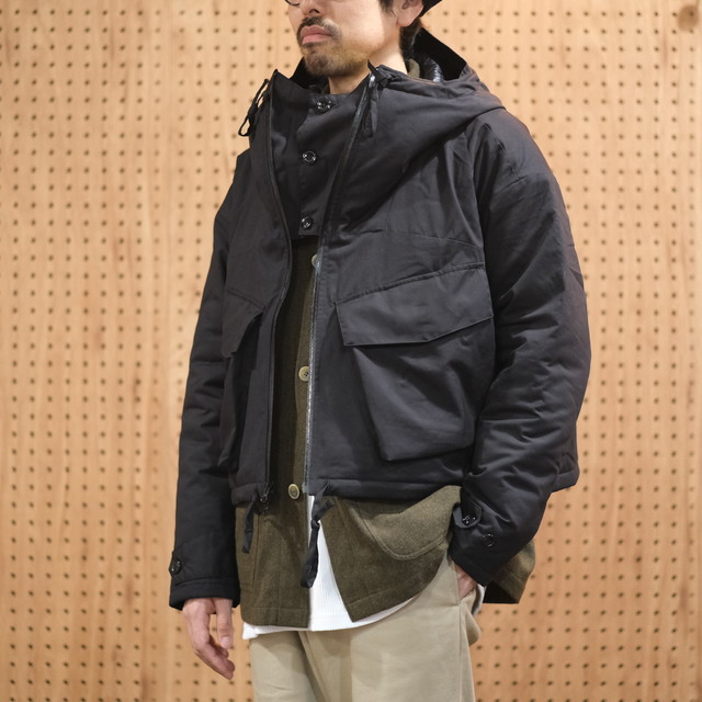 monitaly(モニタリー) CROPPED EXPEDITION JACKET -VANCLOTH OXFORD BLACK- #M26008