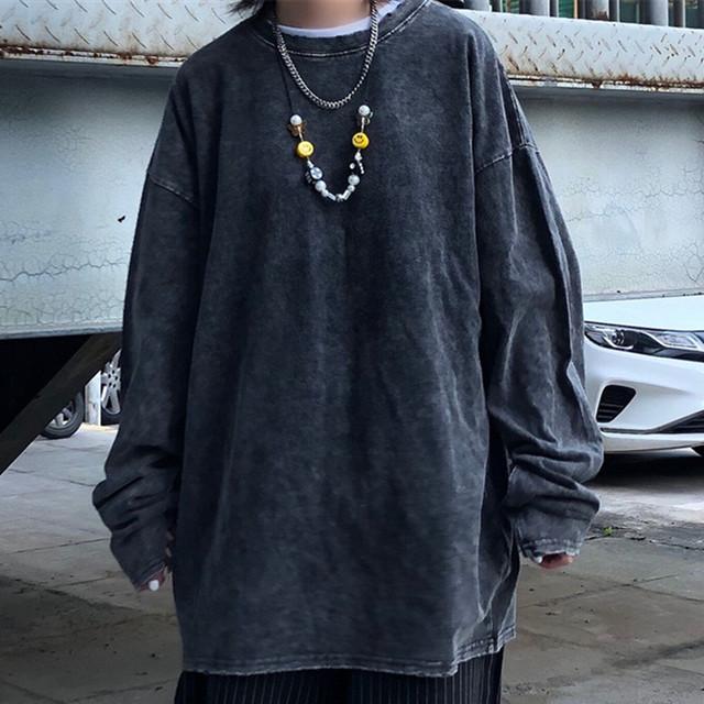 【トップス】ストリート系無地ファッションカジュアル和風Tシャツ32843100
