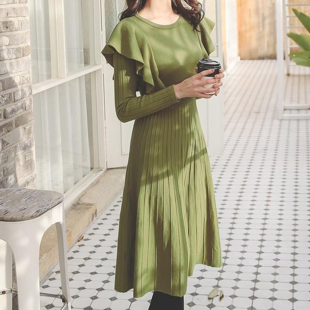 【dress】着やせ美しいラインスリムカジュアルワンピース 23713306