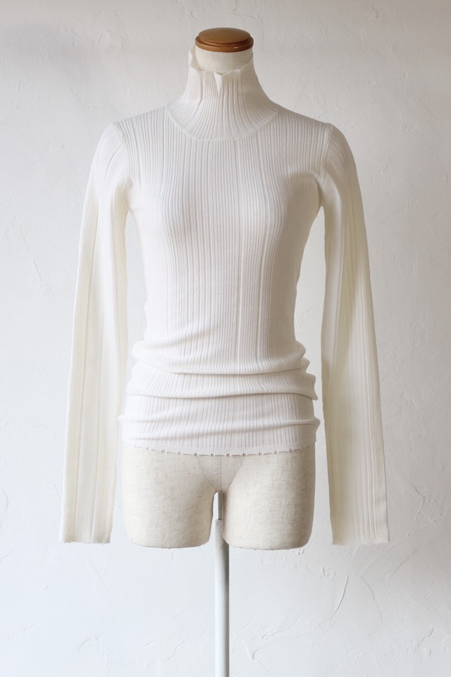 【SAYAKADAVIS】ribbed turtleneck-off white