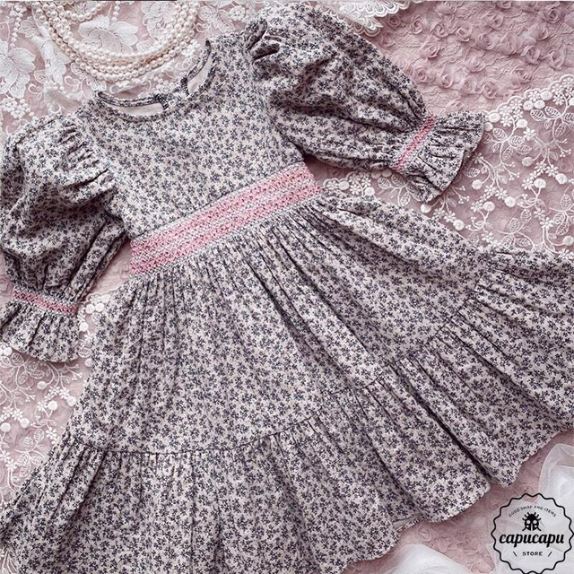 «sold out»One Day for The Celebration Dress  smocking lace スモッキング ワンピース