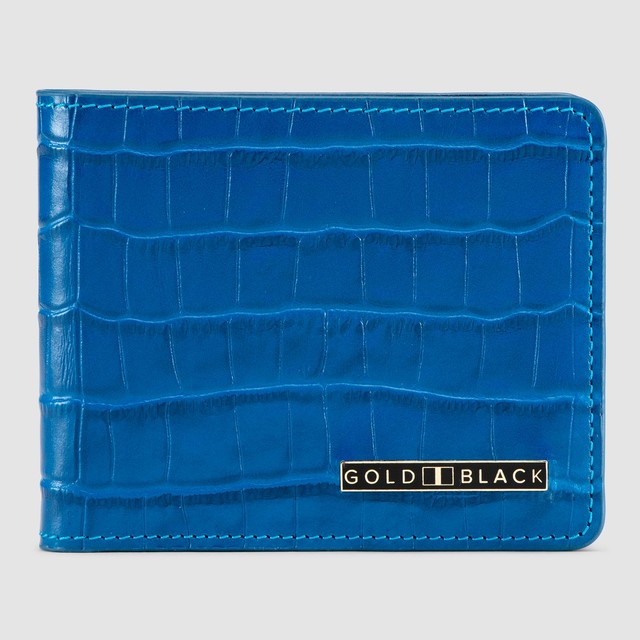 ゴールドブラック(GOLDBLACK) GM WALLET CROCO BLUE