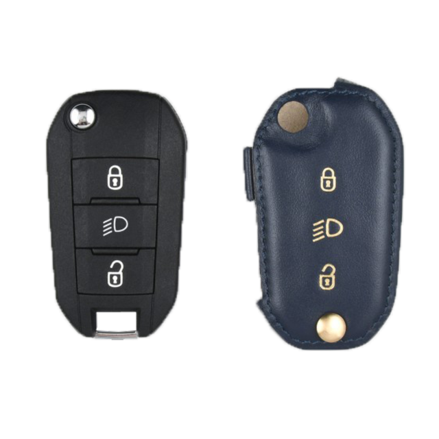Peugeot 専用 TypeB Car Key Case Shrink Leather Case