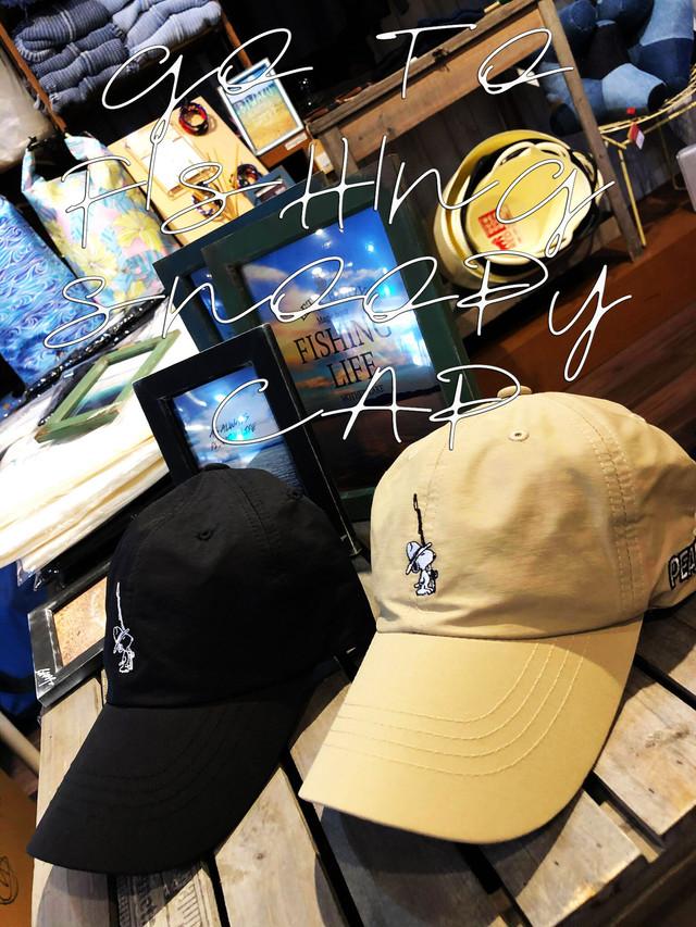 【LAHM別注限定model】「GO TO FISHING SNOOPY CAP」 LAHM/エルエーエイチエム