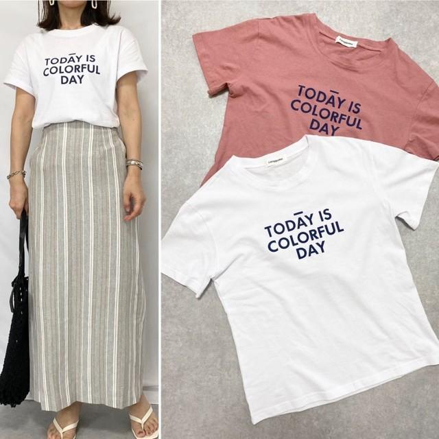 ◆即納◆TODAY IS COLORFUL DAY ロゴプリント半袖Tシャツ 2S-061
