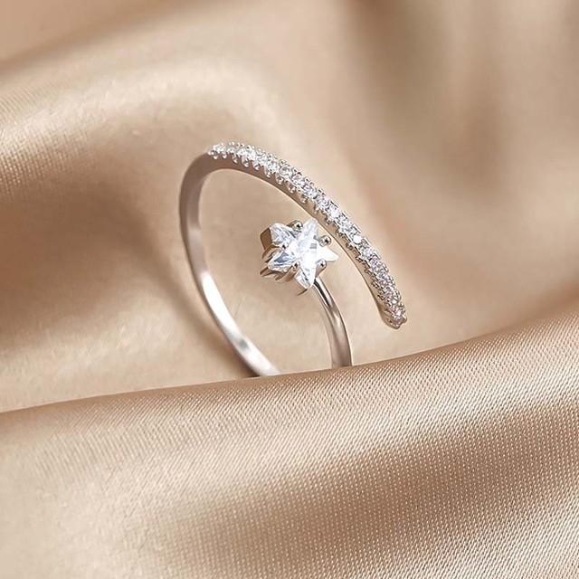 指輪 レディースアクセサリー INS風 星 キラキラ オリジナル 個性 プレゼント 大人気