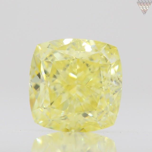0.51 ct FANCY YELLOW VS1 CUSHION GIA 天然  ダイヤモンド ルース