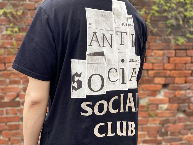 POP BY JUN LIMITED ANTI SOCIAL SOCIAL CLUB  × FRAGMENT TEE BLACK XL 50JE6317
