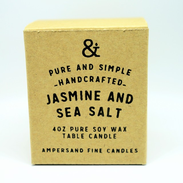 4oz Amber Jar Candle -JASMINE AND SEA SALT- キャンドル Candles - メイン画像