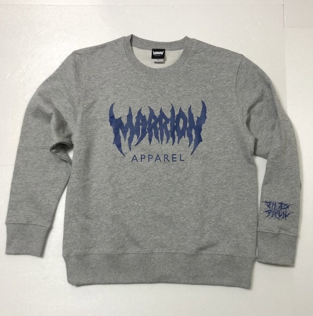 MARRION APPAREL LOGO SWEAT (Gray×Navy)