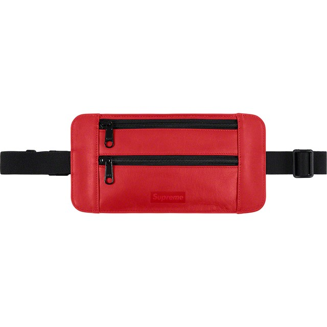 SUPREME Leather Waist Bag RED