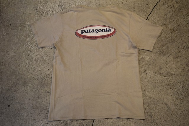 USED patagonia Oval logo T-shirt S made in USA T0246