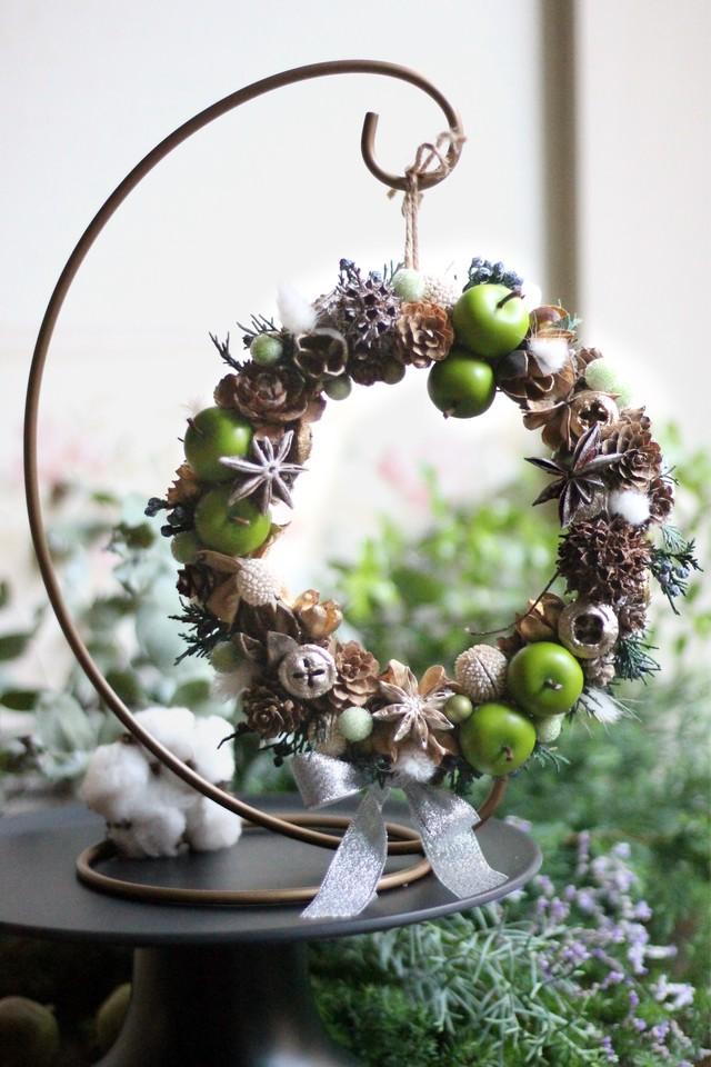 クリスマスリース(青リンゴ)