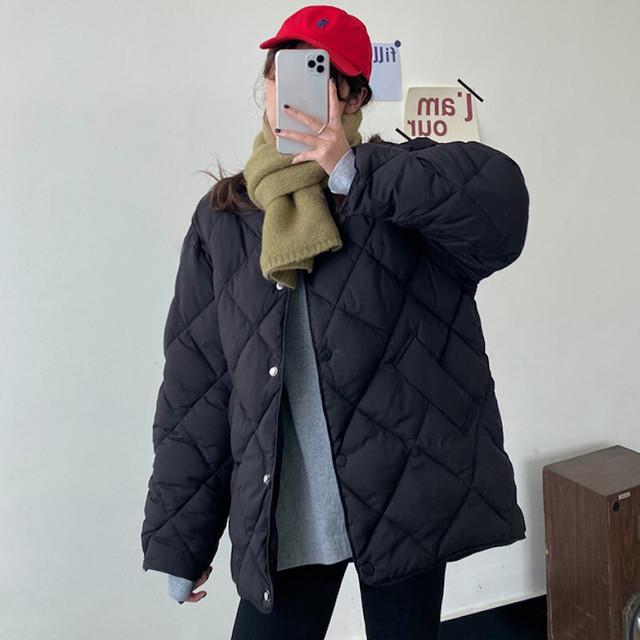 【送料無料】キルティングダウンジャケット♡アウター 軽量 シンプル シンプル カジュアル 双子コーデ
