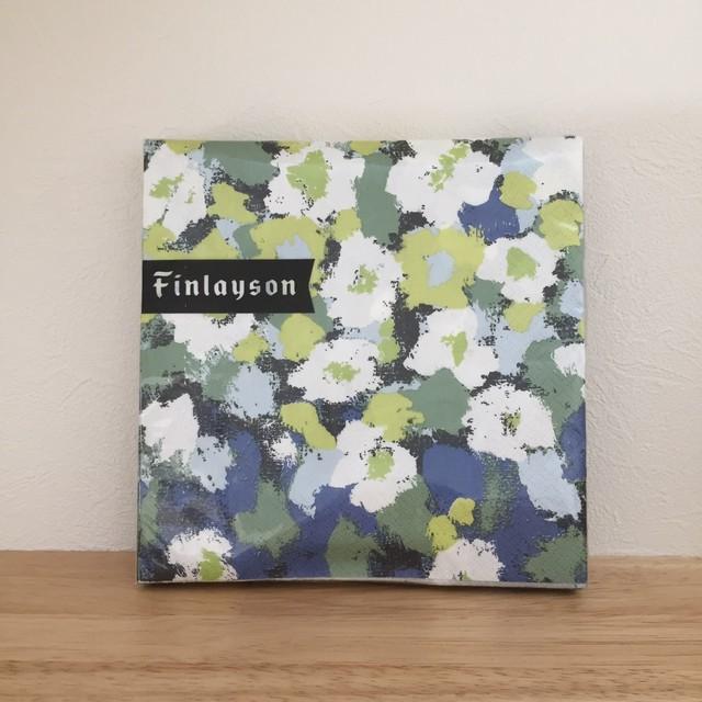 【Finlayson】ランチサイズ ペーパーナプキン LEINIKKI ブルー 20枚入り