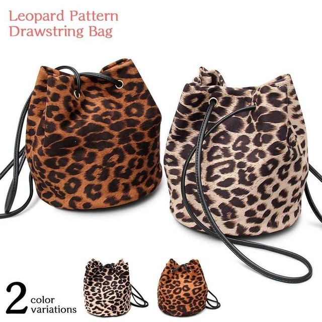 【即納商品】 leopard pattern bag KRE036