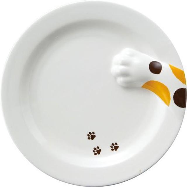 どろぼう猫 プレート(三毛猫)肉球付