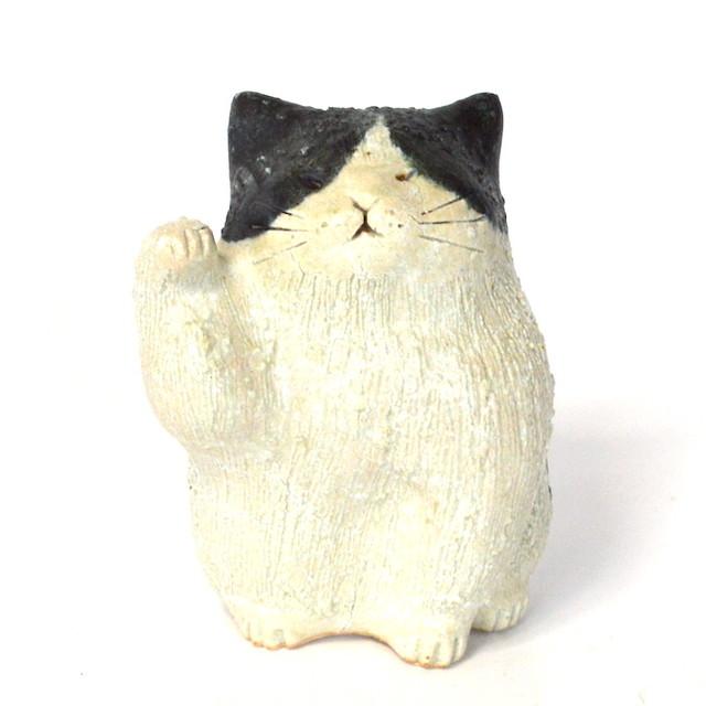 信楽焼 まねき猫 562-02 猫 ネコ かわいい 焼き物 まねきねこ 幸運 金運 風水 ラッキー 招き猫