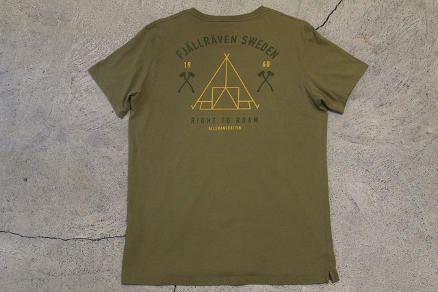 USED FJALL RAVEN Cotton T-shirt -X-Large 0994