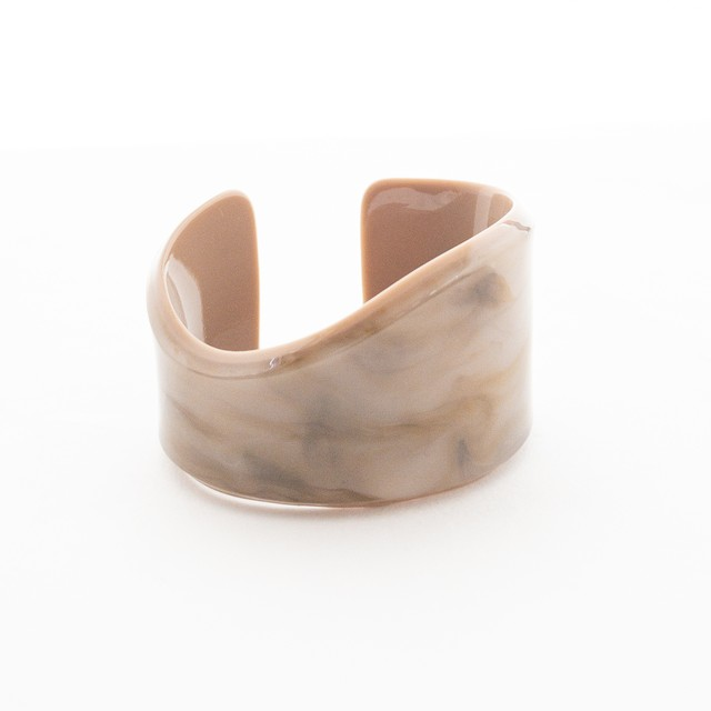 Marble wave bangle(beige)