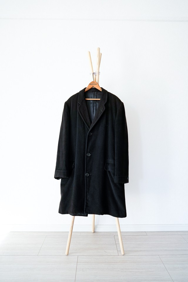 """【1960s】""""Glen McCrae"""" Cashmere Chester Coat with Union-Ticket / v365"""