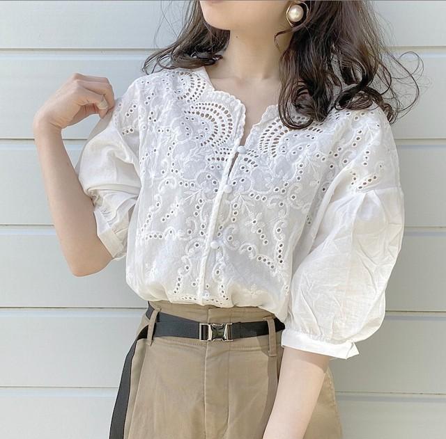 lace blouse [4/19n-17]
