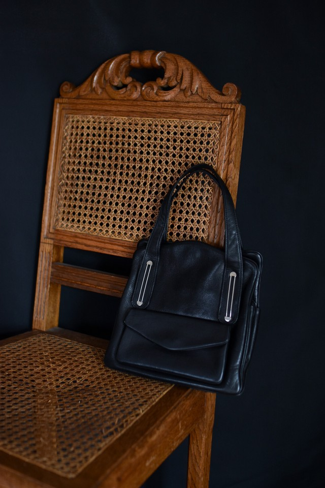 cow leather hand bag