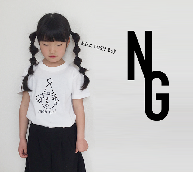 baby + kids t-shirt 【nice girl】