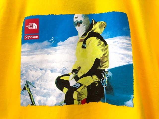 Supreme 18AW × THE NORTH FACE PHOTO TEE YELLOW MEIDUM 62.5JF6636
