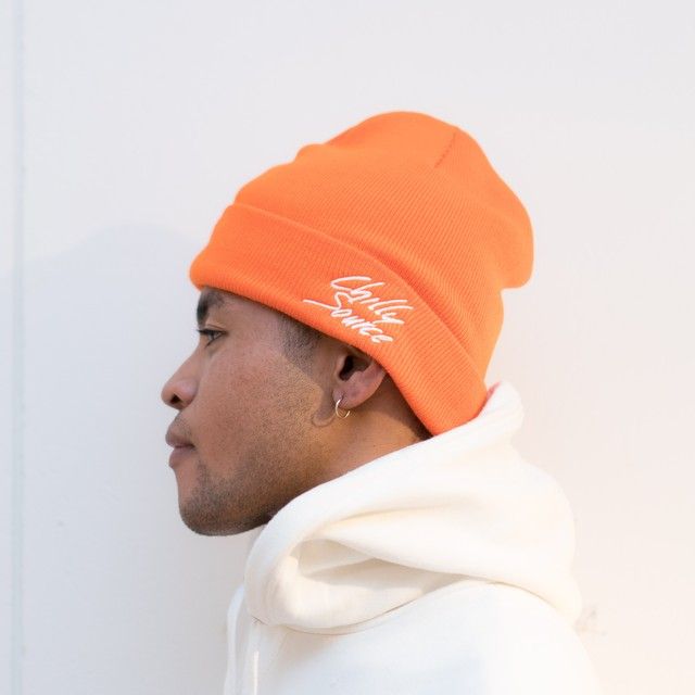 Chilly Knit Cap 【Orange】