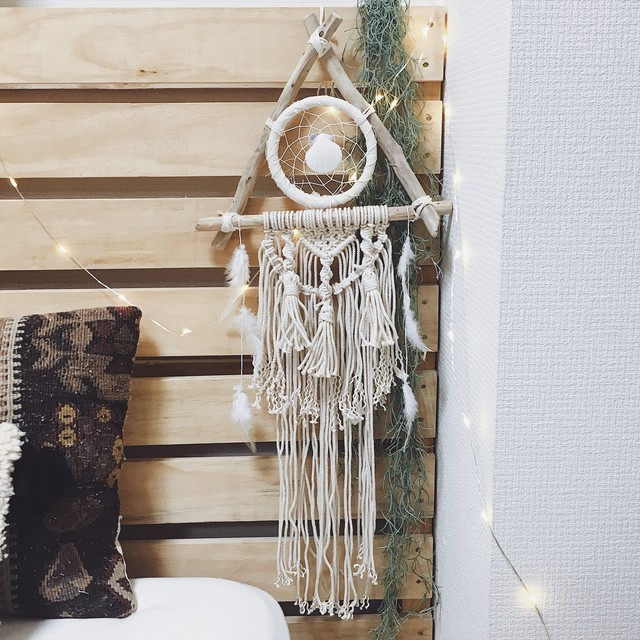 Boho beach triangle dreamcather
