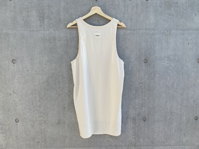 greatLAnd LAYERED LONG TANK TOP MILK