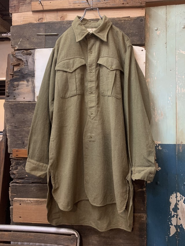 50's DUTCH ARMY COTTON SHIRT JACKET