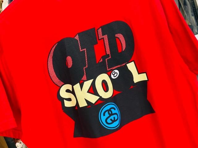 STUSSY OLD SKOOL 8BALL TEE RED XL 15KH8069