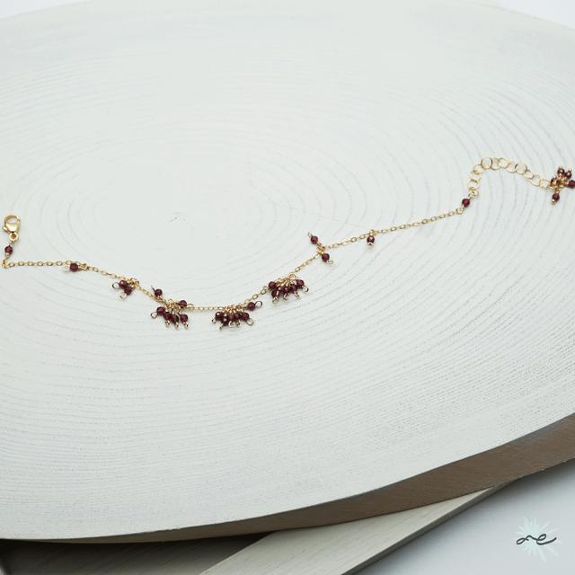 Garnet Bracelet/14KGF
