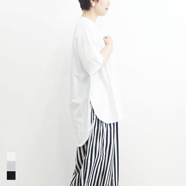 MidiUmi ミディウミ ラウンドチュニックTシャツ 【返品交換不可】 (品番2-718141)