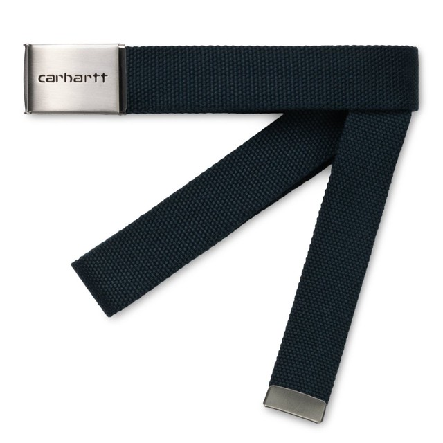 CARHARTT WIP CLIP BELT CHROME ADMIRAL
