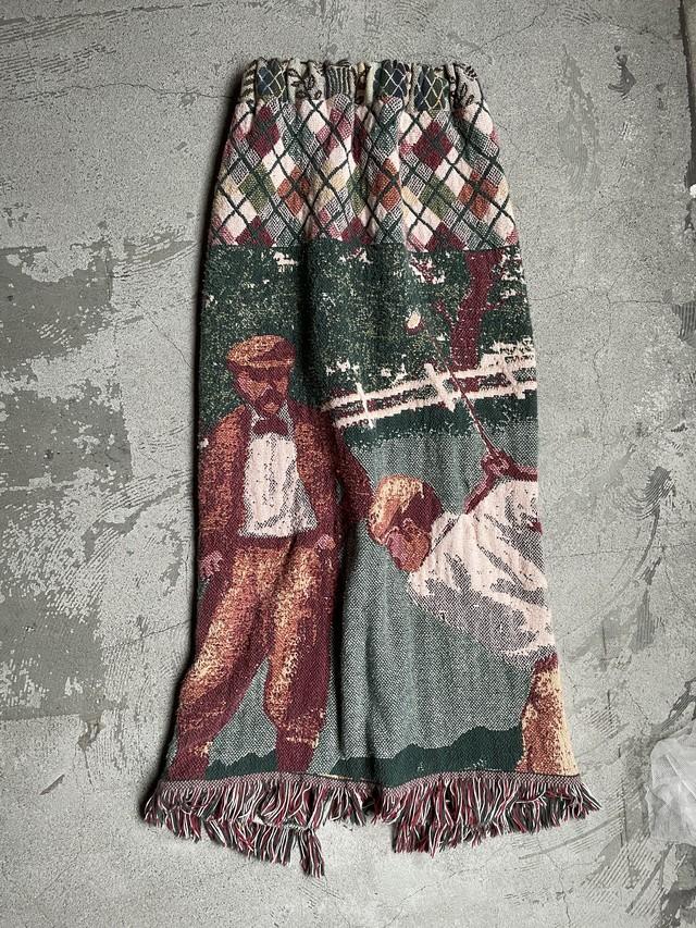 remake vintage rug skirt