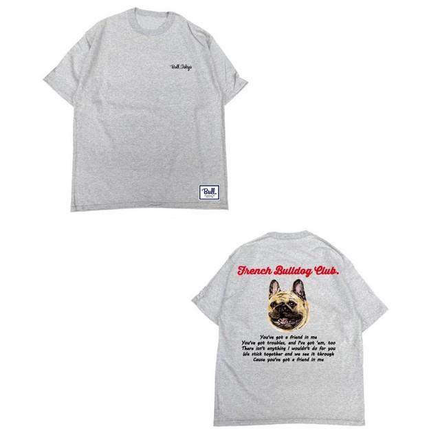 【販売予告 8/7(水)20:00~8/12(月)23:59】限定受注生産 Bull.Tokyo オリジナル Tシャツ French Bulldog Club フォーン