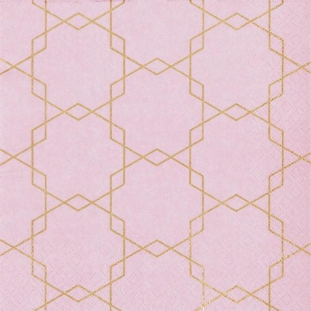 11月27日出荷|2020春夏【Home Fashion】バラ売り2枚 ランチサイズ ペーパーナプキン ART DECO ローズ