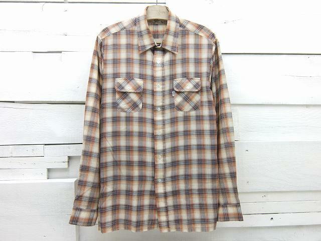 1970's Levi's リーバイス 白タブ ビッグE チェックシャツ ビンテージ Lサイズ相当