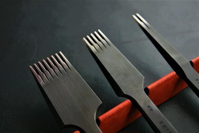 YORKSHINE ヨーロッパ目打ち 2刃と5刃のセット