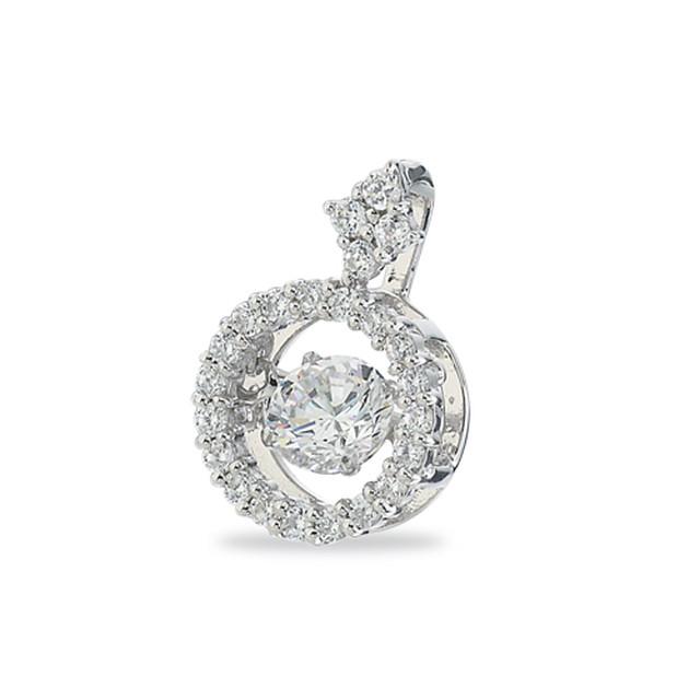 15:揺れるダイヤモンドペンダント0.2ct