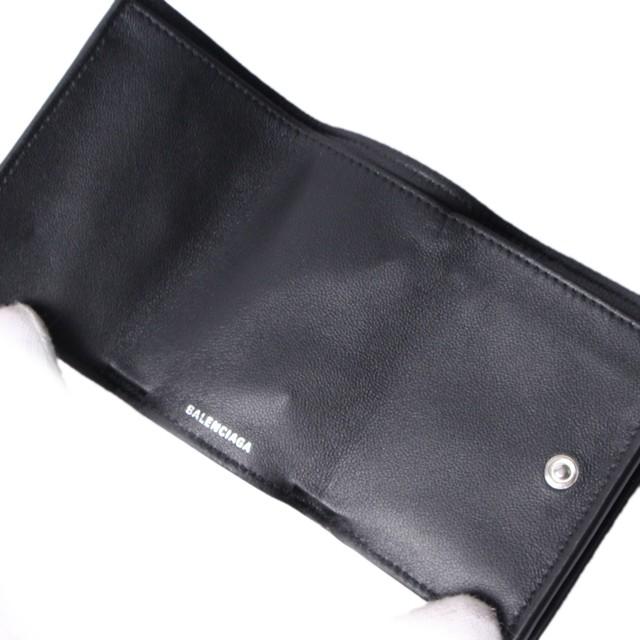 on sale 8e7f8 9f825 BALENCIAGA(バレンシアガ) ミニレザーウォレット ブラック ロゴ エンボス メンズ 三つ折財布 ミニウォレット r014010 |  KASHI KARI LABO ストア powered by BASE