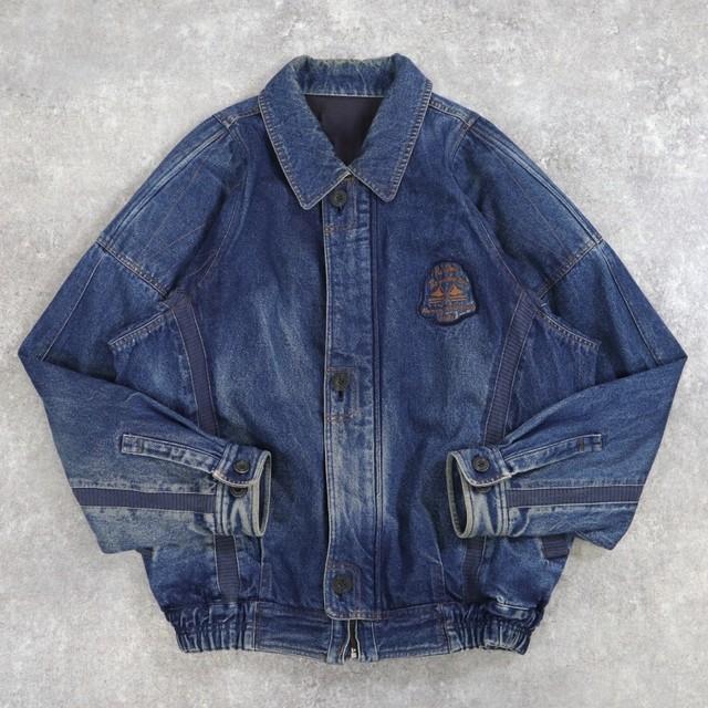 old switching denim jacket