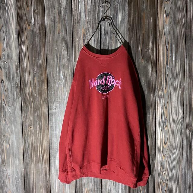 [Hard Rock Cafe]Lyon red sweat