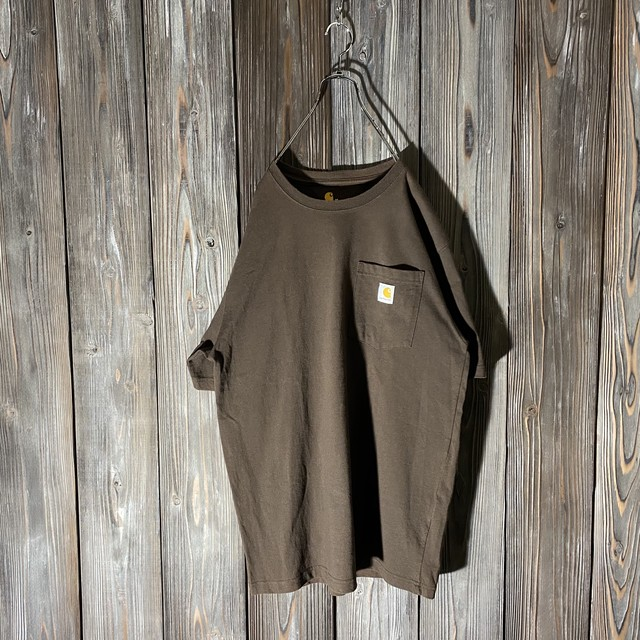 [Carhartt]brown pocket T shirt